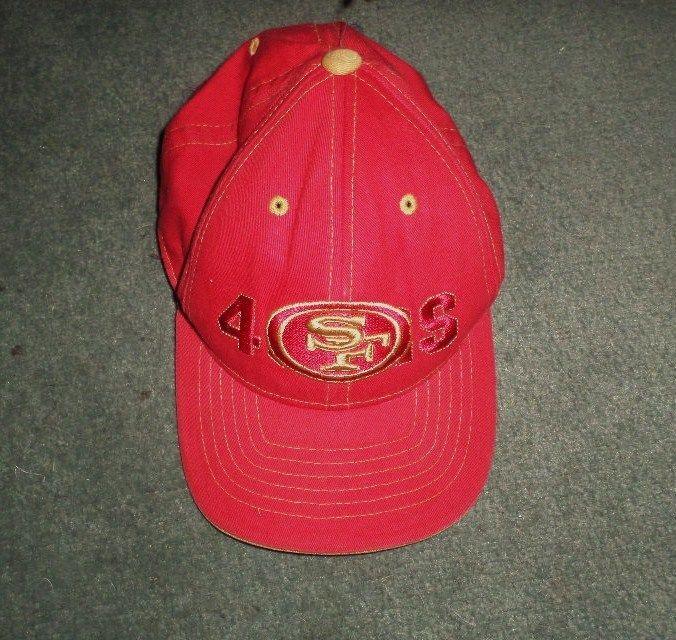 Youth Boys Red & Gold SAN FRANCISCO 49ers NFL Logo Hat, Adjustable Strap, GUC #REEBOKNFLTeamApparel #SanFrancisco49ers