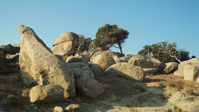 A route in Tinos island Greece. Summer 2012.