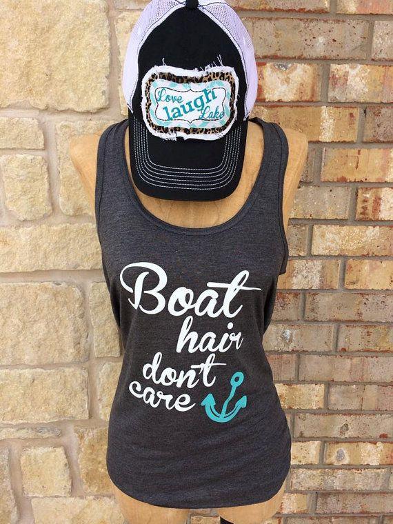 Boat Hair Don't Care lakehattankfunnysummer4th july by ATRS