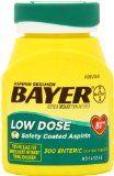 Bayer Aspirin Regimen Low Dose 81mg, Enteric Coated Tablets, 300-Count, Sale Price: $7.99