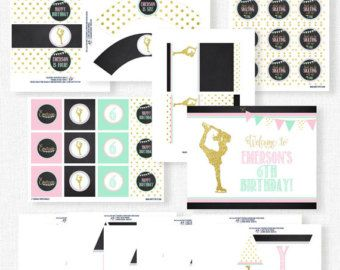 Pink and Gold First Birthday Party Decorations от SprinkledDesign