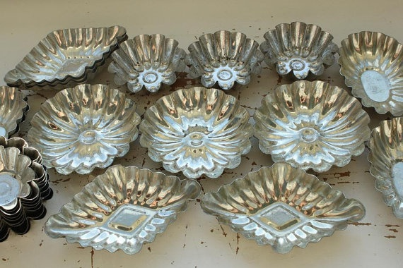 Vintage Tart Candy Baking Molds from Sweden