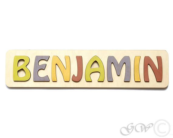 ITEM DETAILS  Wooden personalized puzzle name with raised letters Material: Birch plywood. Height of the board: 4 inches (10 cm) Length of the board: 8 - 23 inches (20 - 58 cm) (depends on quantity of letters) Letter height: approximately 2.6 inch (6.5 cm) Puzzle name size: 1-10 Letters Board thickness: 0.24 inch (0.6 cm) Letter thickness: 0.24 inch (0.6 cm)  HOW TO ORDER  Please choose Puzzle name size from drop down menu. Choose quantity of Puzzle names you would like to purchase. Press…