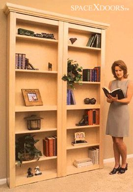 Bi Fold Bookcase Closet Door Is A Great Use Of Space.