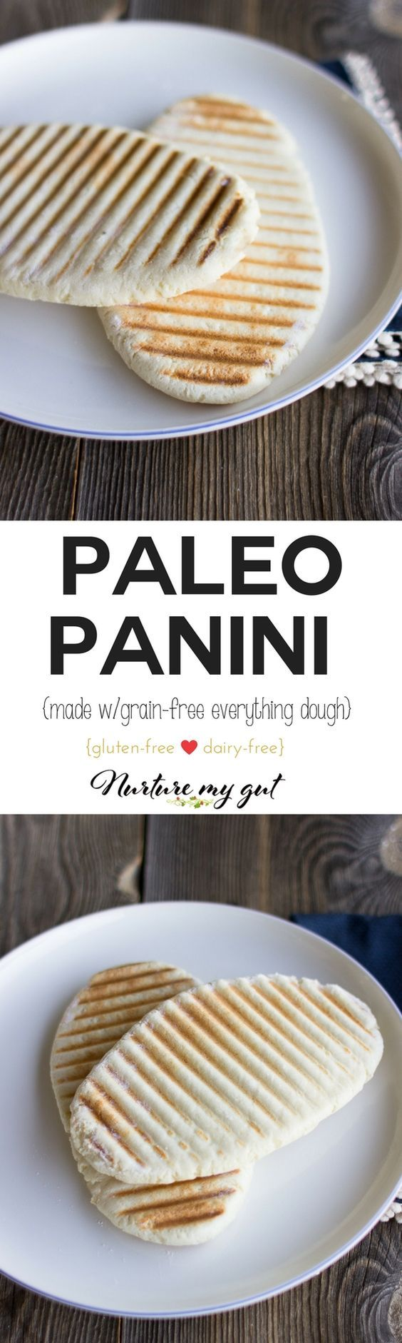 Paleo Panini Bread that is soft, flexible and tastes just like Naan Bread.  Make sandwiches, serve with stews, and dip into a blend of olive oil and balsamic. Grain free, gluten free and dairy free.