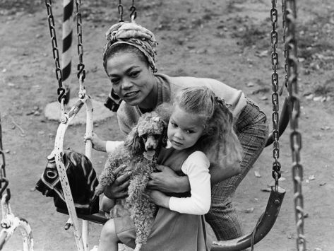 Eartha Kitt Were Is Her Daughter | Eartha Kitt and Daughter - 1965 Photographic Print by Norman Hunter at ...