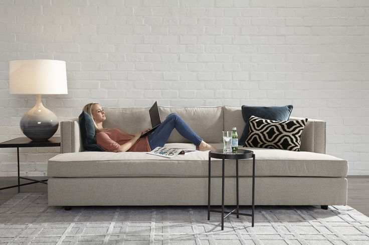 MG + BW // Keaton Media Sofa: Expansive Seat Cushion With A