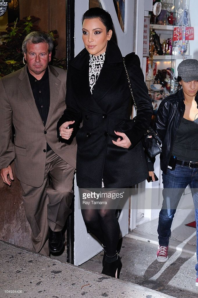 Television personality Kim Kardashian leaves Serendipity restaurant on October 6, 2010 in New York City.