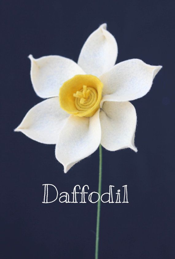 Felt Daffodil Narcissus Build Your Own Bouquet by TheFeltFlorist                                                                                                                                                                                 More
