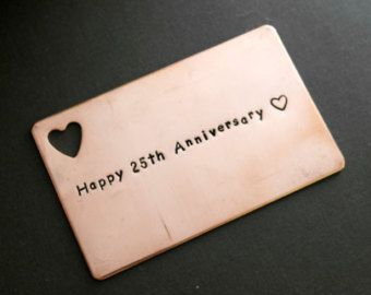 Copper Wallet Insert Card Customized personal by MetalandIdea