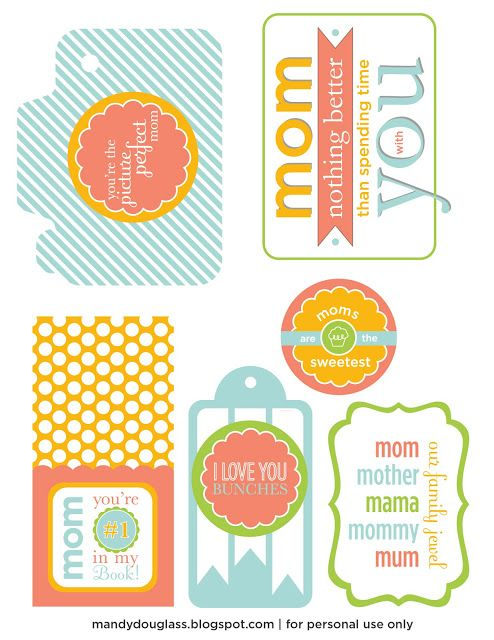 Free Mother's Day Printable Tags!