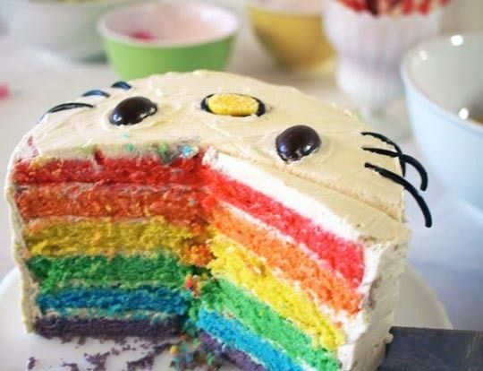 ridiculous birthday cakes.Kitty Parties, Birthday Parties, Hello Kitty Cake, Hello Kitty Birthday, Rainbow Cakes, Rainbows Cake, Hellokitty, Kids Cake, Birthday Cakes