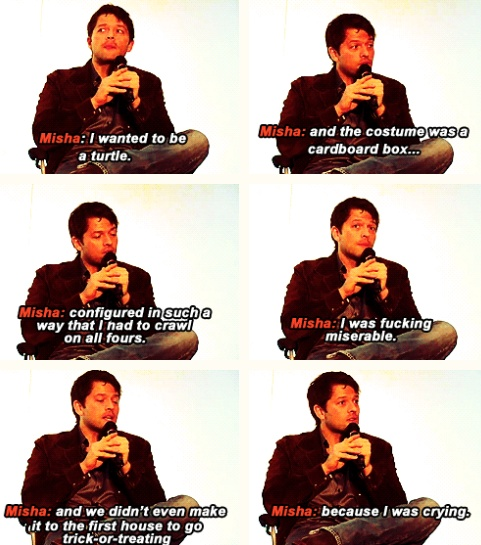I feel like I may have pinned this already but oh well. I laugh every time I read it. I love Misha