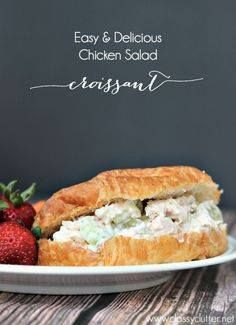 Easy and Delicious C Easy and Delicious Chicken Salad Croissant...  Easy and Delicious C Easy and Delicious Chicken Salad Croissant - www.classyclutter Recipe : http://ift.tt/1hGiZgA And @ItsNutella  http://ift.tt/2v8iUYW