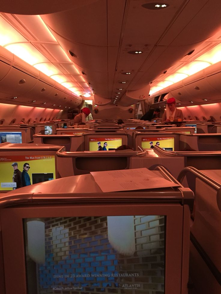 ON BOARD OF AN EMIRATES FLIGHT FROM DUBAI TO PARIS
