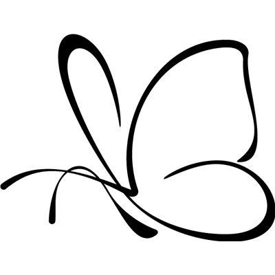 Mariposa pegatina en vinilo recortado para coche for Vinilos mariposas