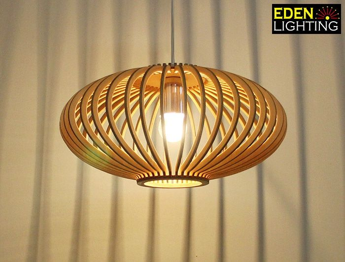 Wood P4-360 (M) Milo |           Wood Pendant lights |          Eden Lighting