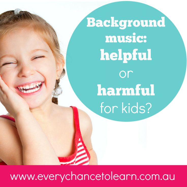 Dr Kristy Goodwin explores how background music can support young children's development.