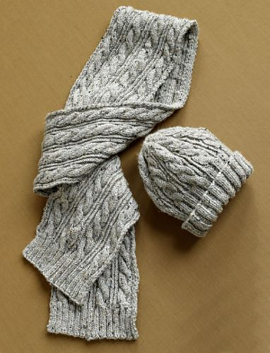 Ravelry: Herdwick Dell Scarf and Hat (Hat) pattern by Lion Brand Yarn-free pattern