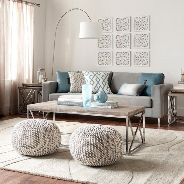 Table Basse avec base géométrique en métal/TABLES BASSES ET TABLES D'APPO...
