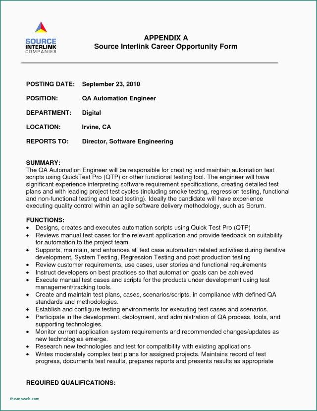 25 Software Engineer Cover Letter Ssds Test Sample Resume Senior