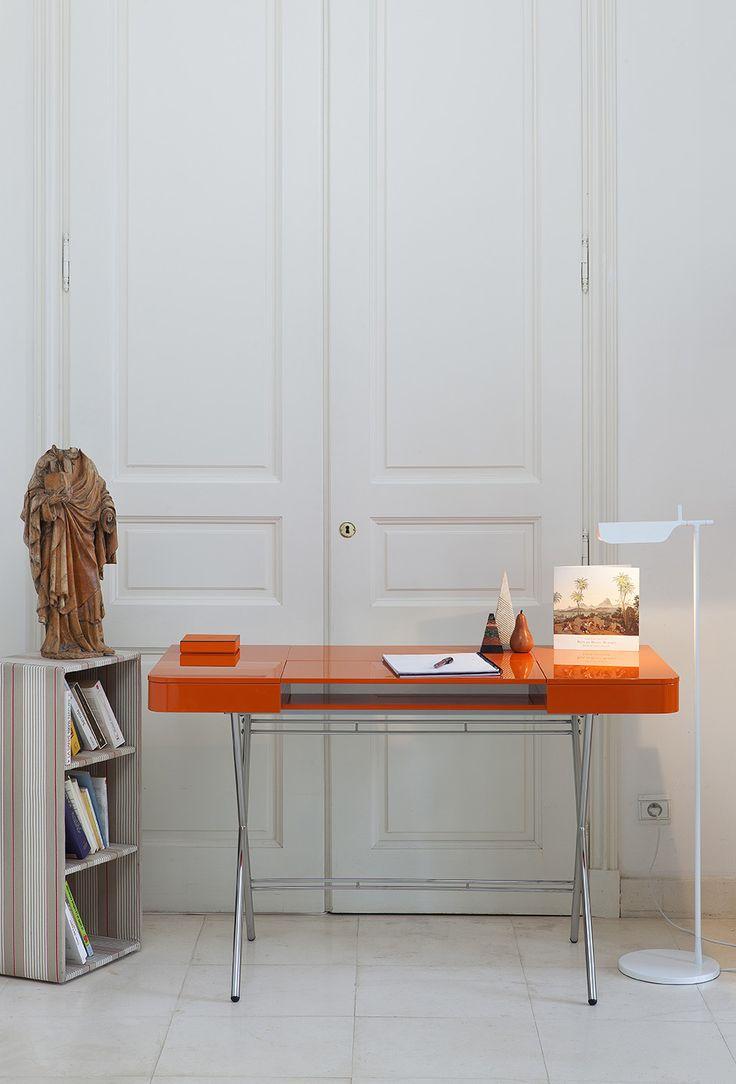Außergewöhnlich Cosimo Desk Design Marco Zanuso Jr   Orange Glossy Lacquered Adentro . Www. Adentro.