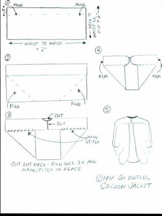 "cocoon jacket pattern | Cocoon - Forums - Weaving Today. Ikea has these $15.00 throws that look ""hand woven"". Might try this pattern idea with one of those."