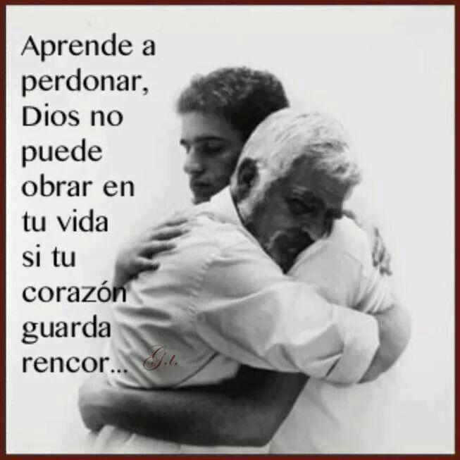 Perdonar aveces es difícil, pero más que por el bien de los demás, es por el bien de uno mismo. ..