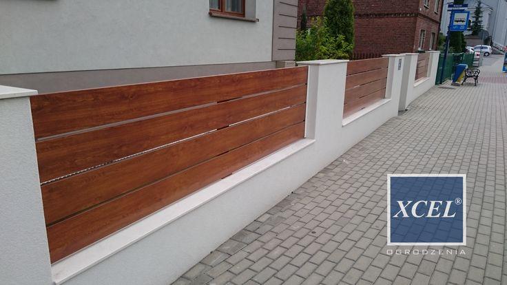 nowoczesne ogrodzenie aluminiowe chełm śląski drewnopodobne