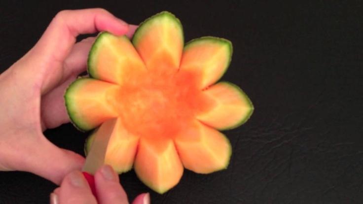 Cantaloupe rockmelon flower beginner s lesson by