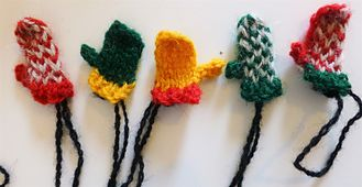 This is a cute mini-mitten pattern for the perfect Christmas ornament. It is worked flat and is very quick to knit.