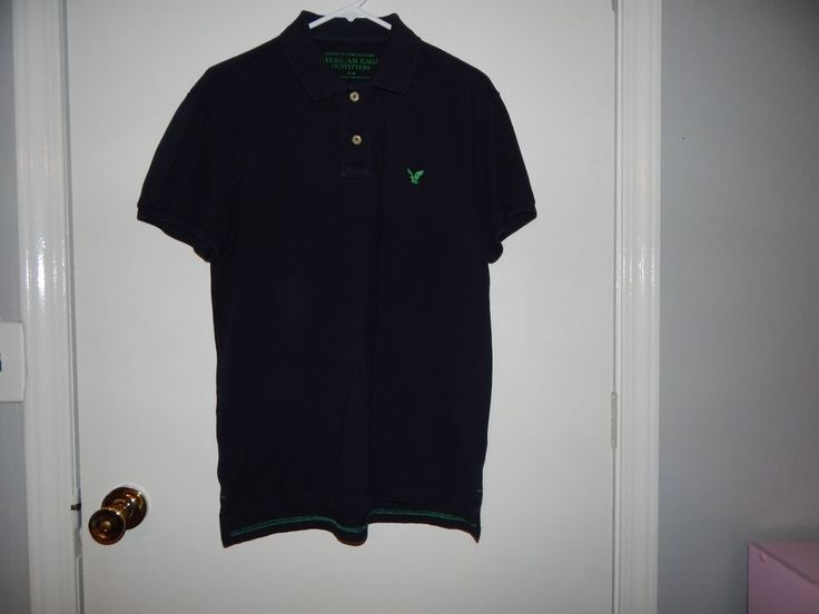 Men's American Eagle Outfitters Medium Black Polo Shirt Green Eagle | Clothing, Shoes & Accessories, Men's Clothing, Casual Shirts | eBay!
