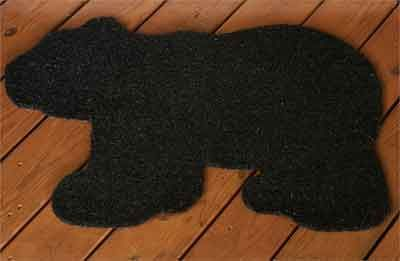 Bristle Door Mat, Bear Shaped - Kolorful Kitchen