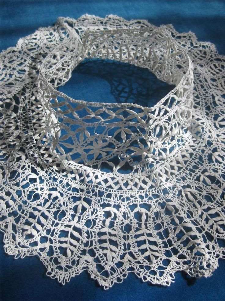 Lovely High Necked Antique Linen Handmade Bedfordshire Bobbin Lace Collar | eBay