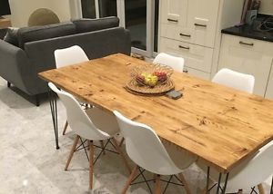 Vintage Retro Hairpin Leg Industrial Rustic Reclaimed Dining/Kitchen Table