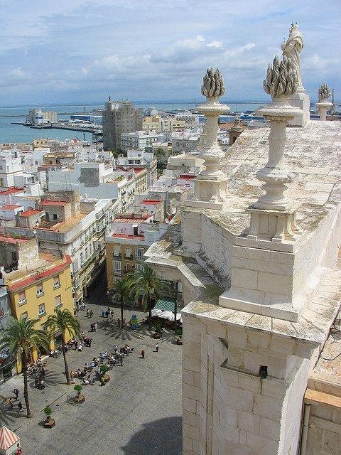 Cadiz - View from the top of the Torre Poniente (Cathedral) - Spain by Ruth L, via Flickr