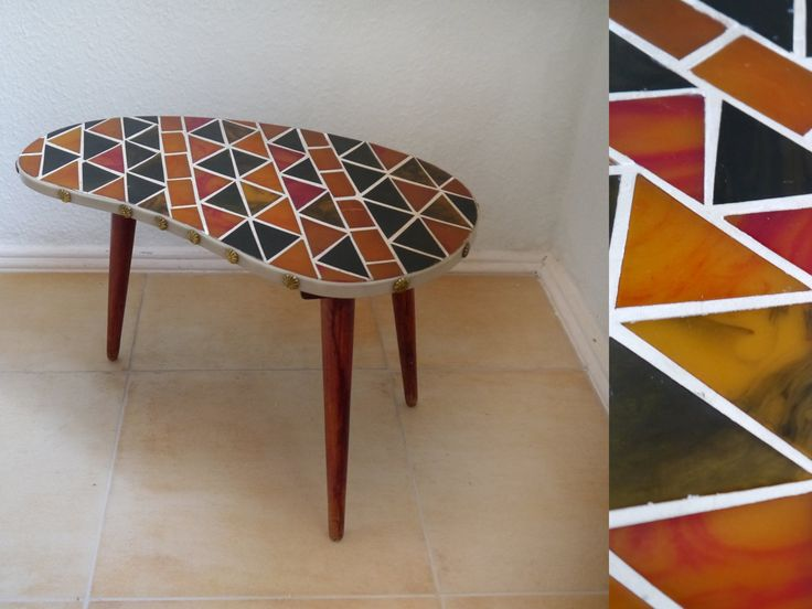 Great Vintage Kidney Flower Table Mosaic 60s Tripod Plant Stand Colorful German  Mid Century Modern Side Table Kidney Table By Berlinattic On Etsy |  Pinterest ...