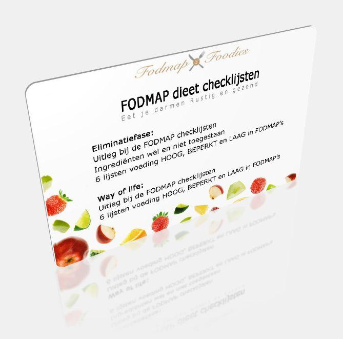 voorkant FODMAP dieet checklijsten