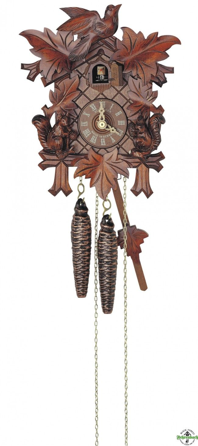 Traditional Cuckoo Clock With Squirrels