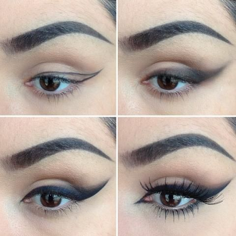 smokey winged liner