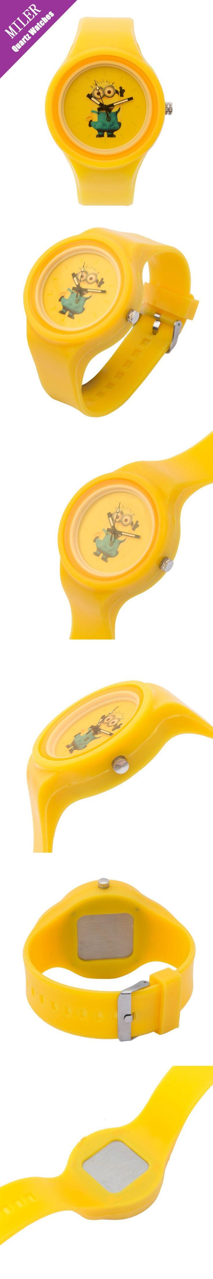 Kids Watches For Girls Boys 3D Eye Minions Watch Cute Cartoon Silicon Quartz Wristwatches Children Clock Orologio Montre Enfant $5.96