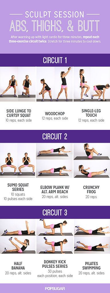 Abs, Thighs And Butt Workout