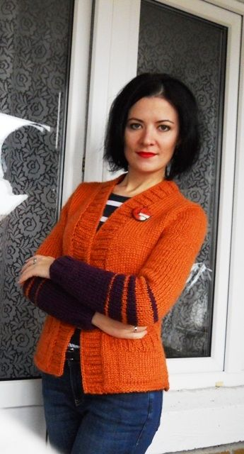 "Кофта спицями ""Лисичка"" | BurdaStyle.ua: Мода, Дизайн, Рукоділля, Викрійки"