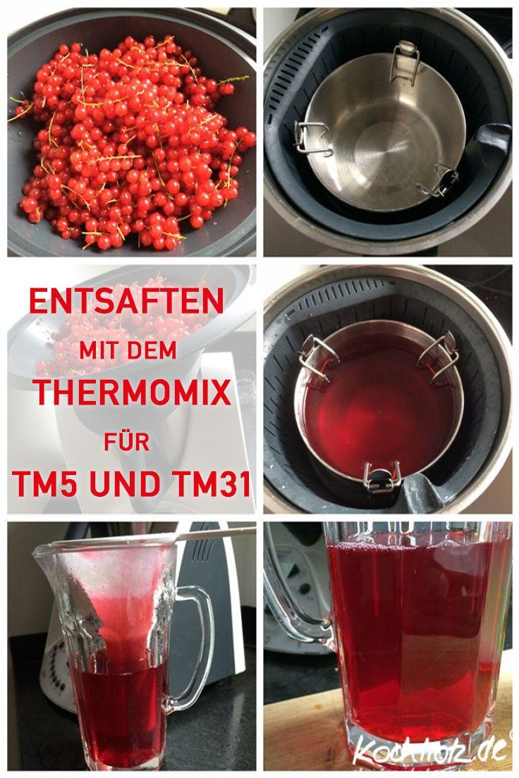 Mit dem Thermomix (TM5 und TM31) kann man sehr gut vor allem einfach entstaften.
