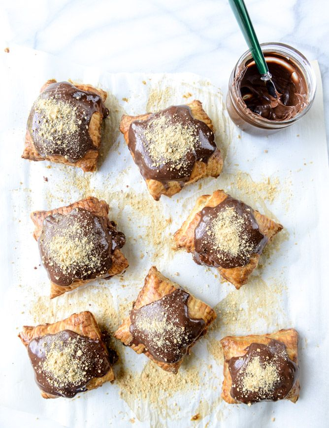 nutella s'mores puff pastry pop tarts I howsweeteats.com