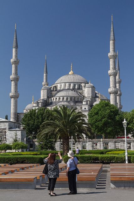 Blue Mosque, in Istanbul, Turkey.