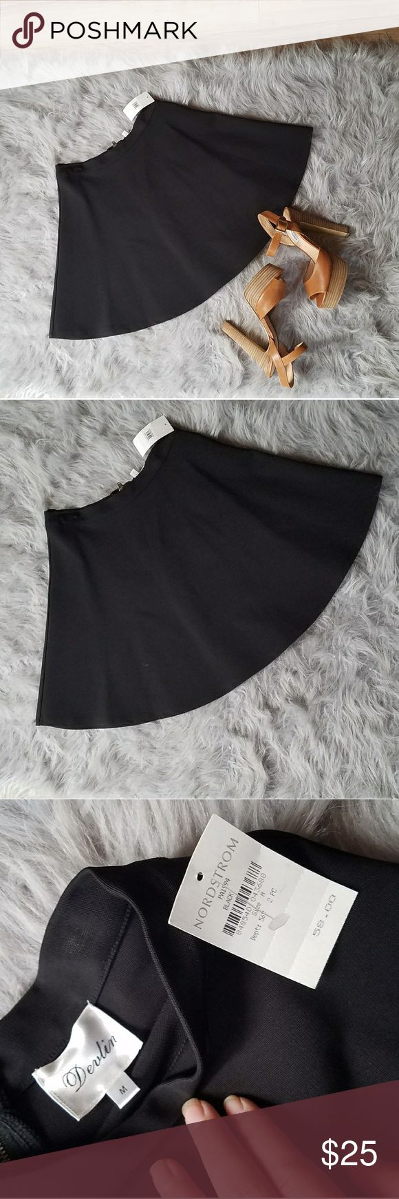 NWT Devlin Black Circle Skirt size Medium Brand new never worn black circle skirt by Devlin from Nordstrom. Has a zipper up back. Nordstrom Skirts Circle & Skater