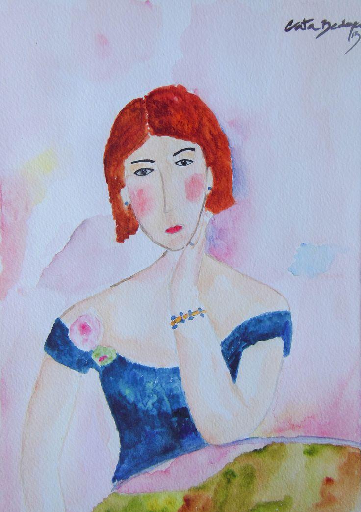 Watercolor Paint Sofia 18 x 25 cm Solgt!