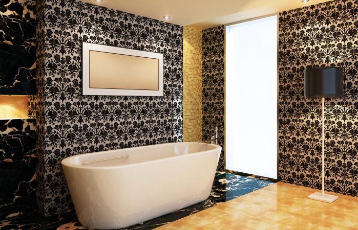 How To Choose The Right Wallpaper For Your Interiors Lovetoknow Wallpaper Interior Design Modern Bathroom Bathroom Design