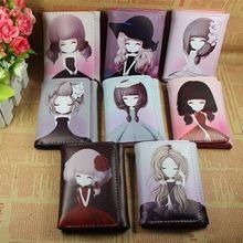 2016 neue Desgin Kurze Brieftasche Mit Cartoon-Muster Mädchen Damen Kupplung brieftasche Lange Geldbörse Brieftasche Handtasche Mädchen brieftasche Kartenhalter(China (Mainland))